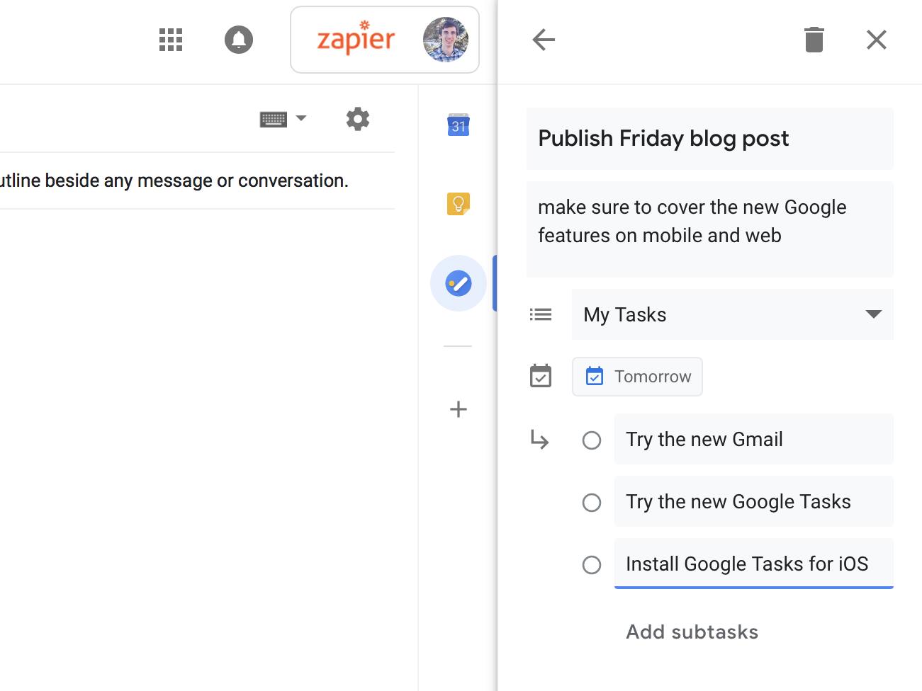 Google Tasks details