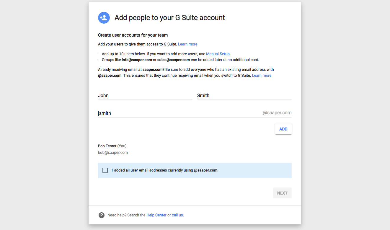 How to make an email account no phone number - Add G Suite Users During Setup