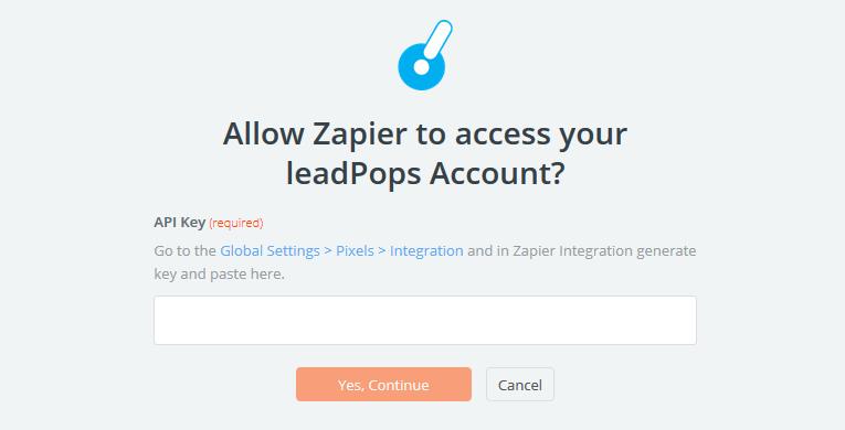 leadPops API Key