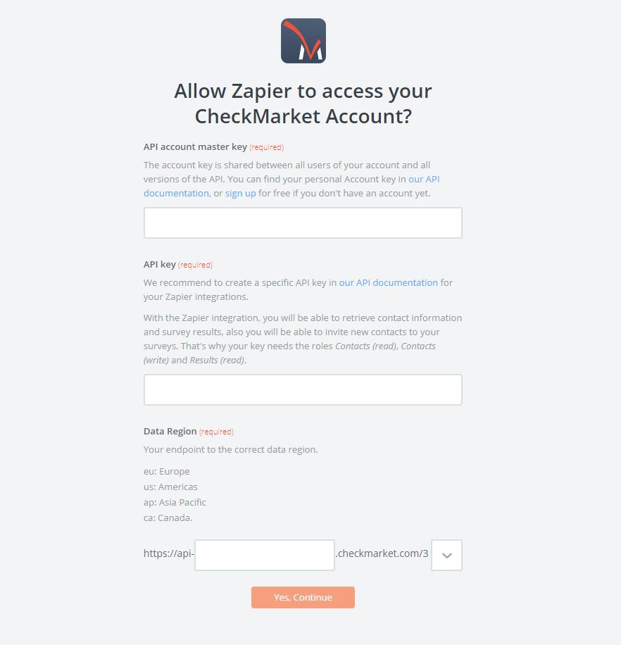 CheckMarket API Key