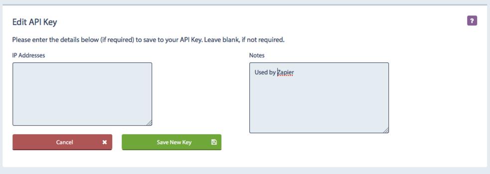 Edit API Key