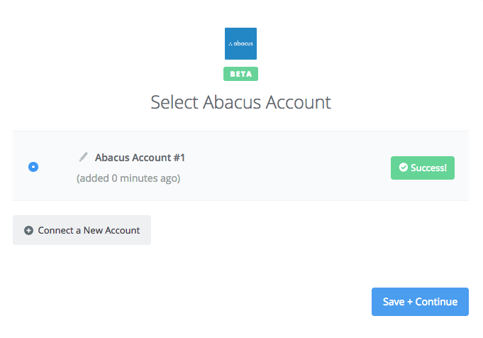 Abacus connection successfull