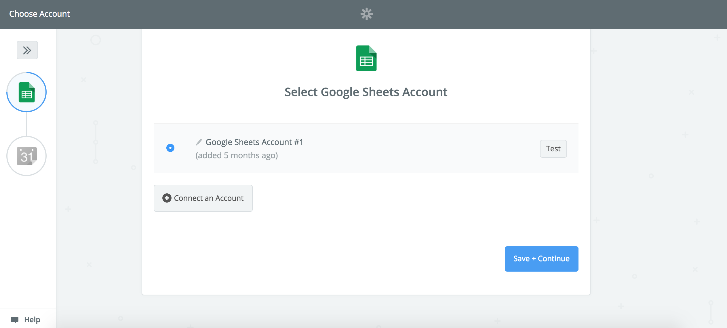 Connect your Google Sheets account