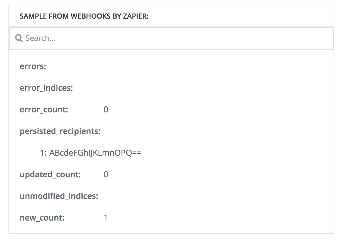 SendGrid response via Zapier
