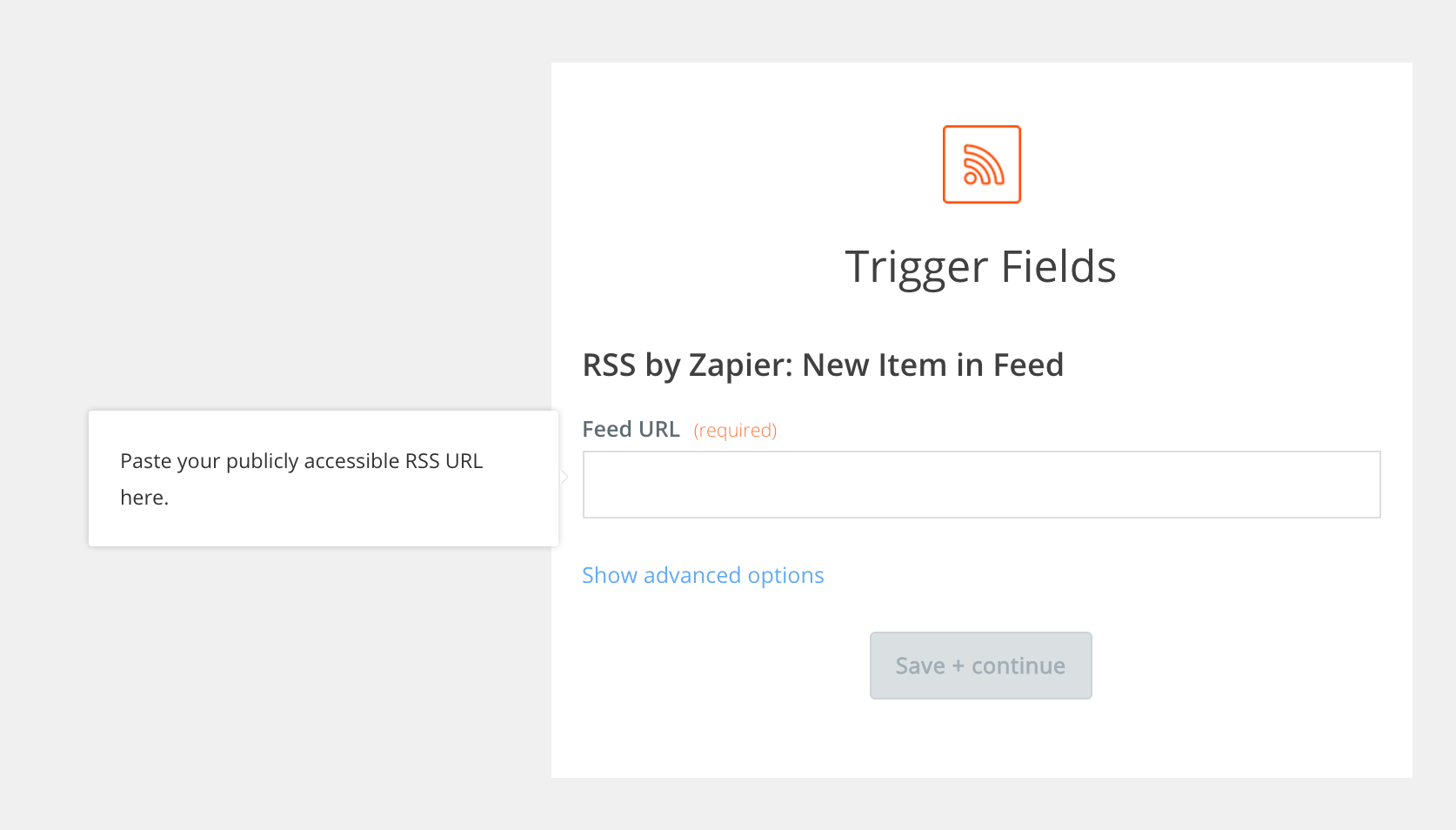 Specify your RSS URL