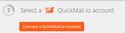 Click to connect QuickMail.io