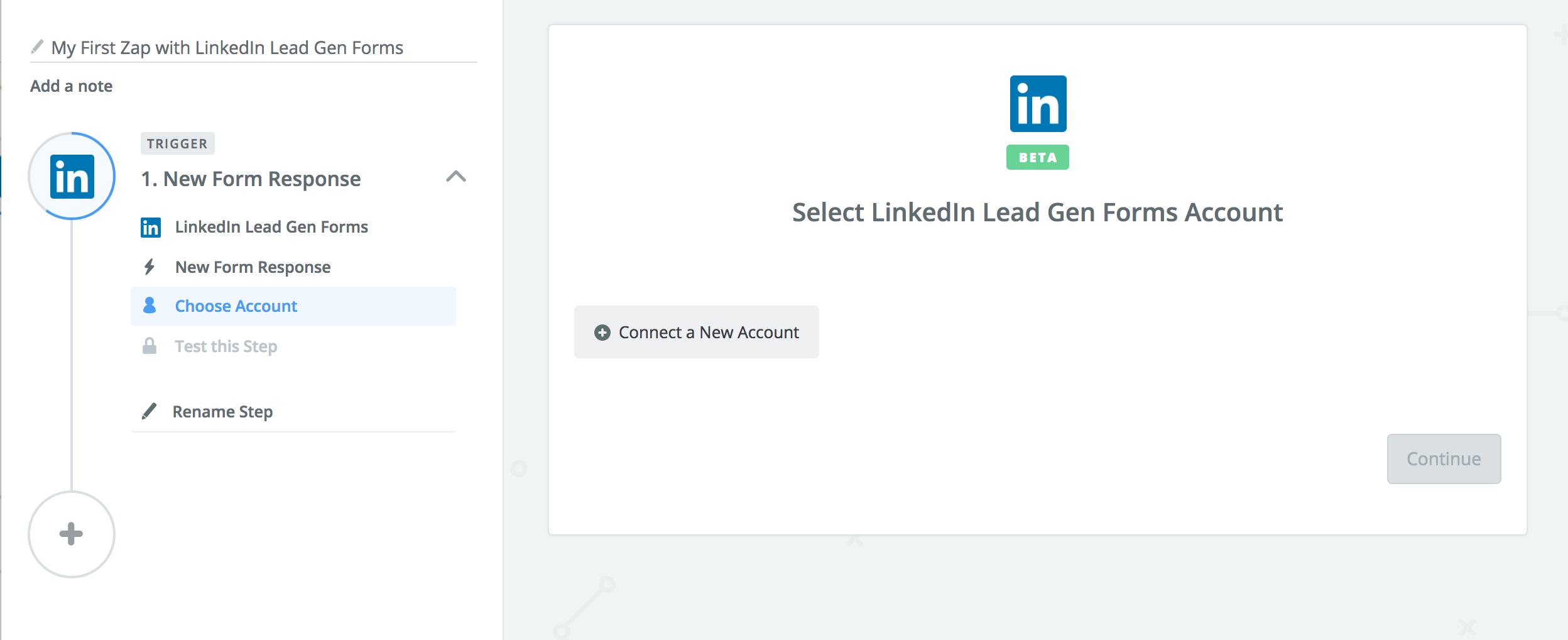 LinkedIn Lead Gen Forms Zapier Authentication
