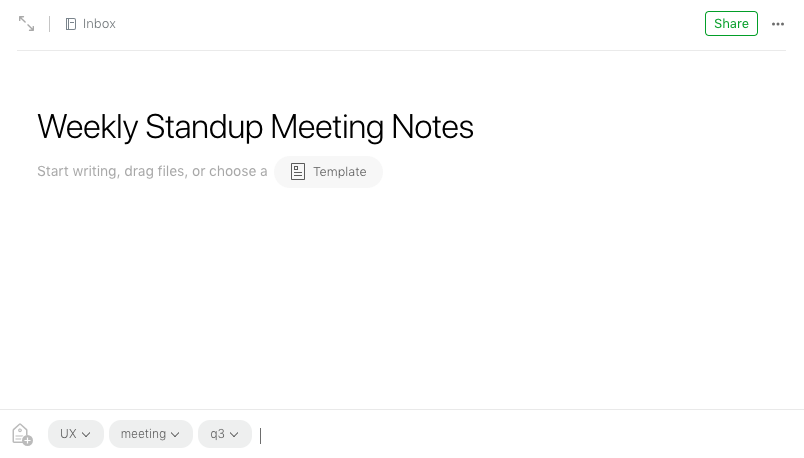 How to use evernote templates to quickly make new notes how to do evernote new note maxwellsz