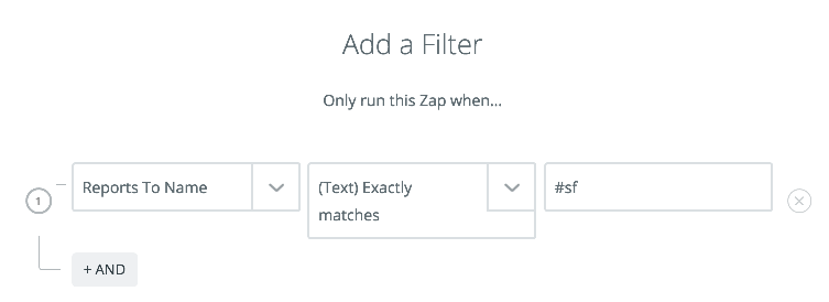 Salesforce filter