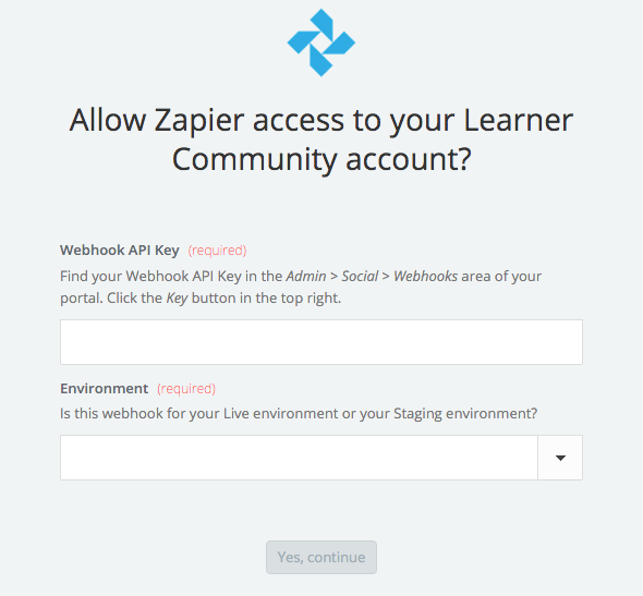 Learner Community API Key
