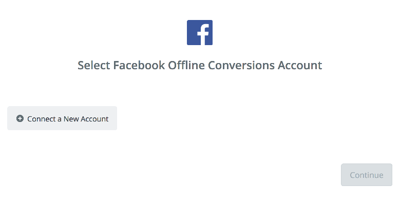Click to connect  Facebook Offline Conversions