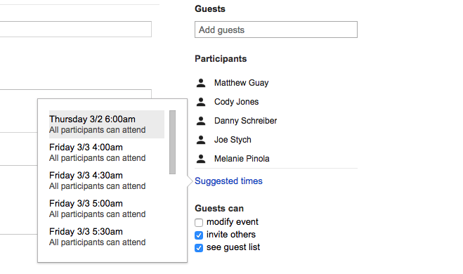 See when people are free in Google Calendar