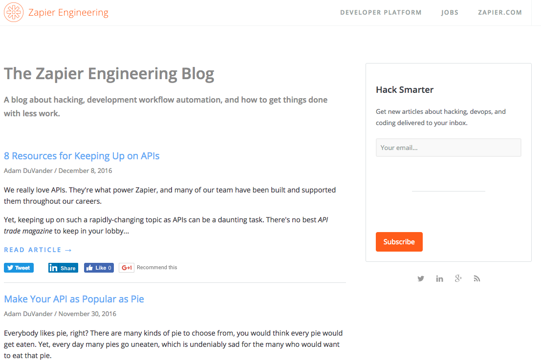 Zapier Engineering Blog