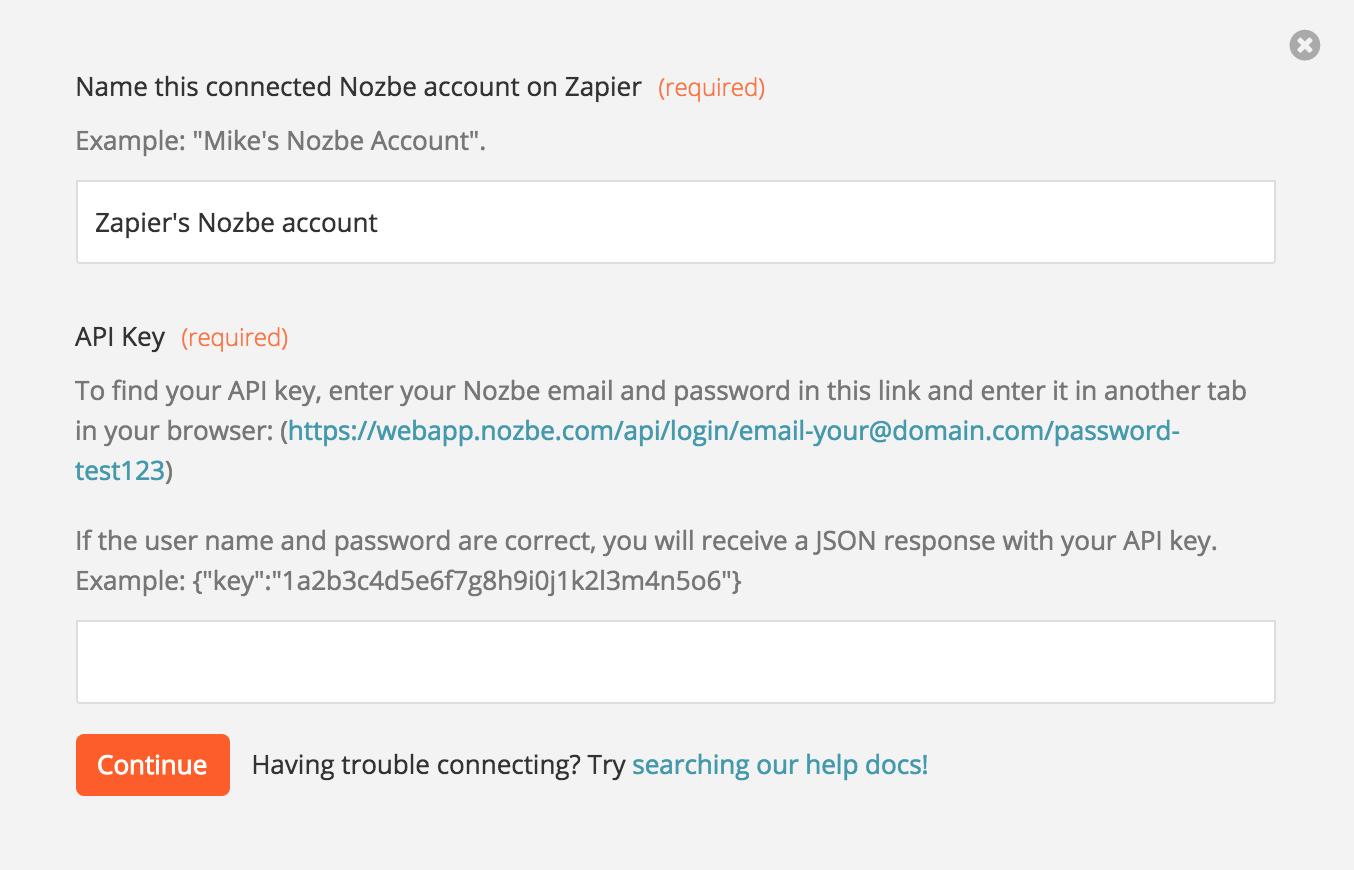 Grab your Nozbe API Key