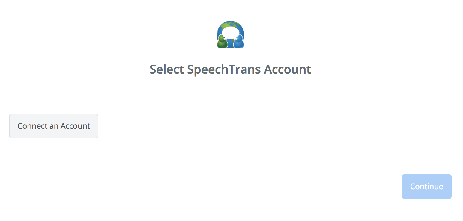 Click to connect SpeechTrans
