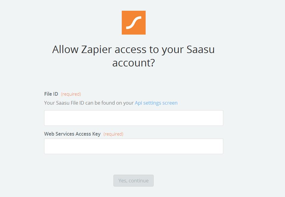 Saasu  API Key