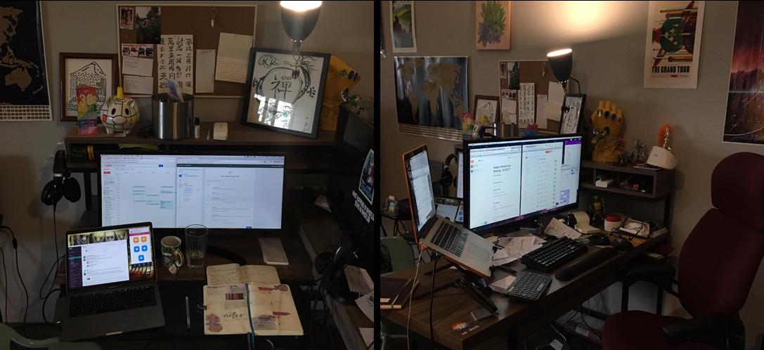 Ze and Zen's workspace