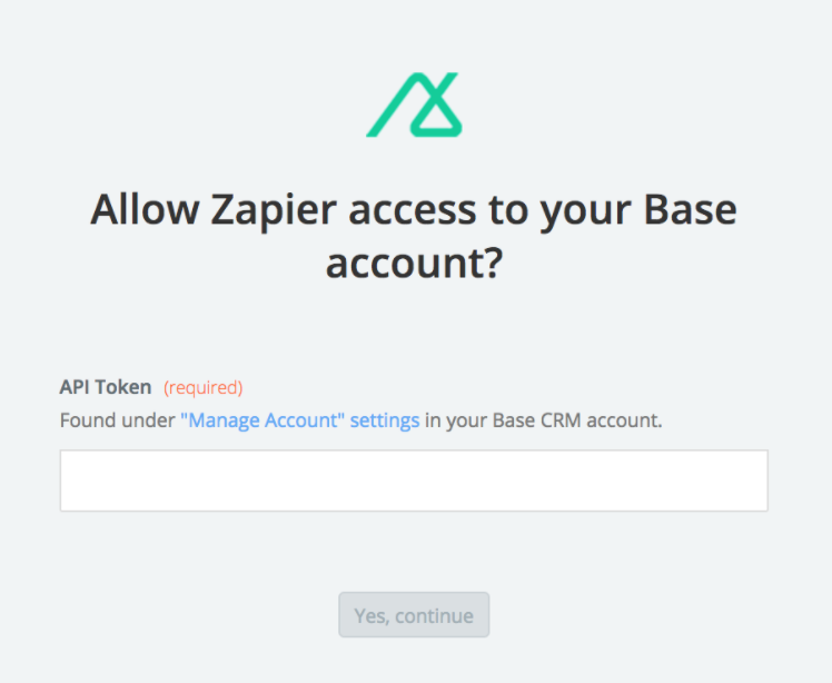 Base CRM API Key