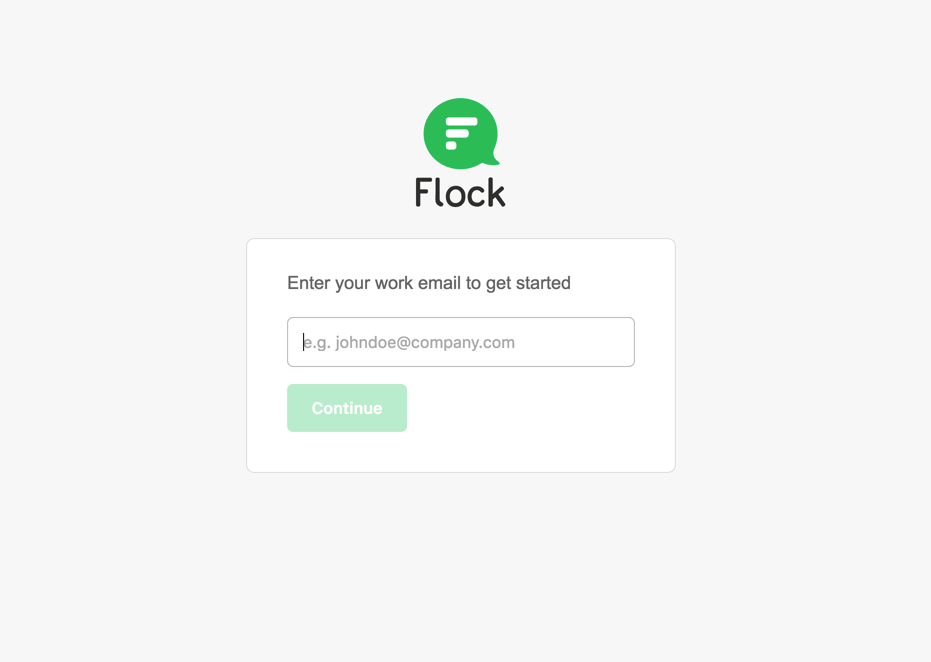 Login to Flock