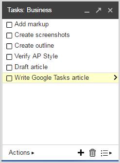 Unordered list in Google Tasks
