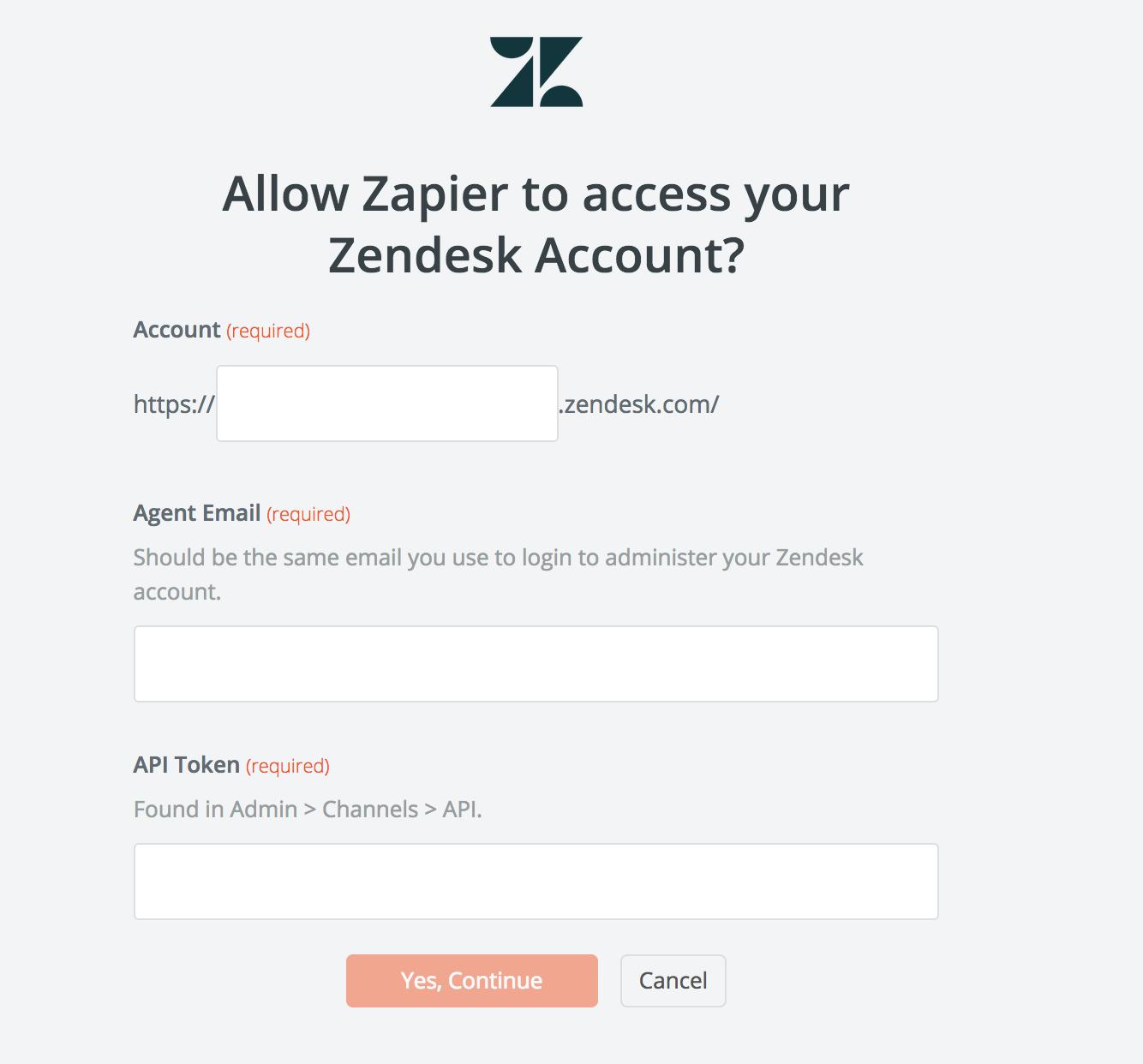 Zendesk API Key
