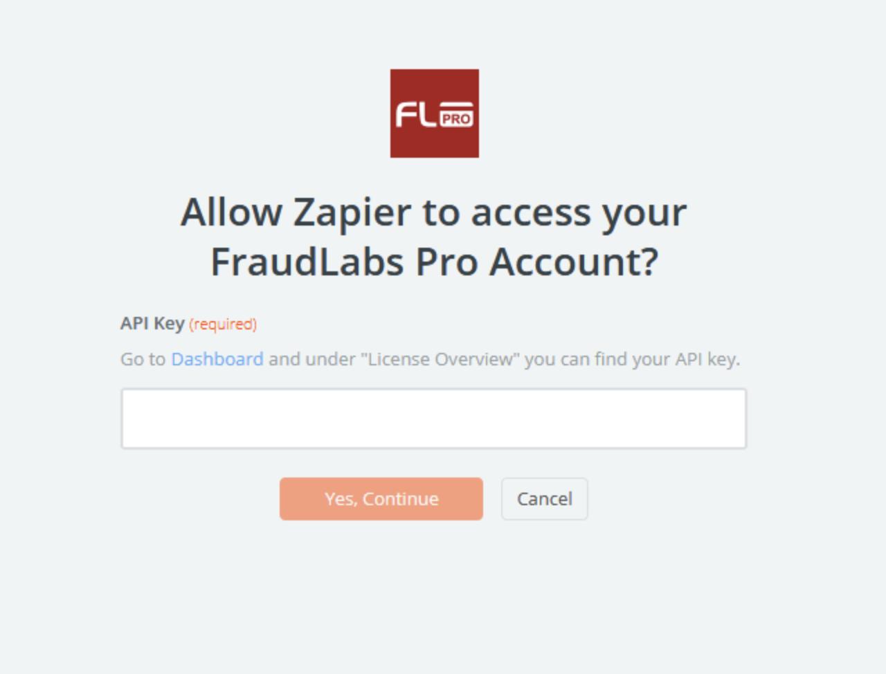 FraudLabs Pro API Key