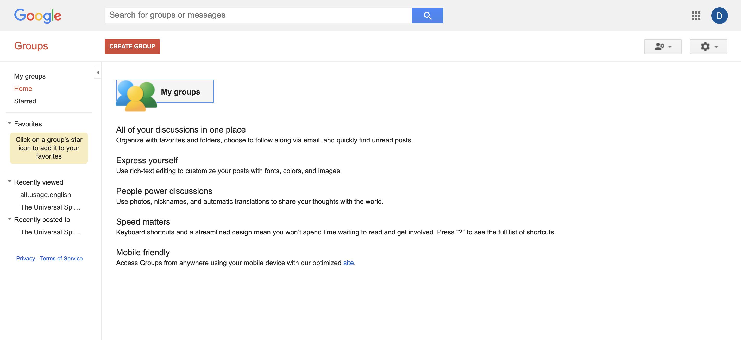 Google Groups Screenshot Examples & Demo Videos | Zapier