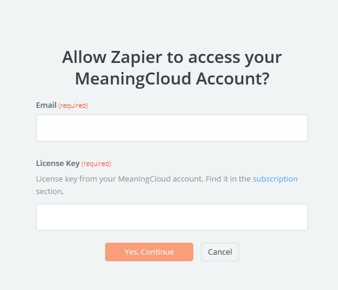 MeaningCloud API Key