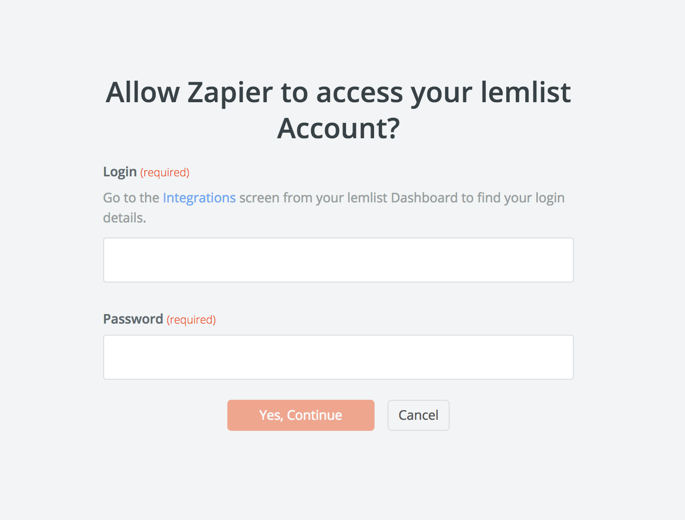 lemlist username and password