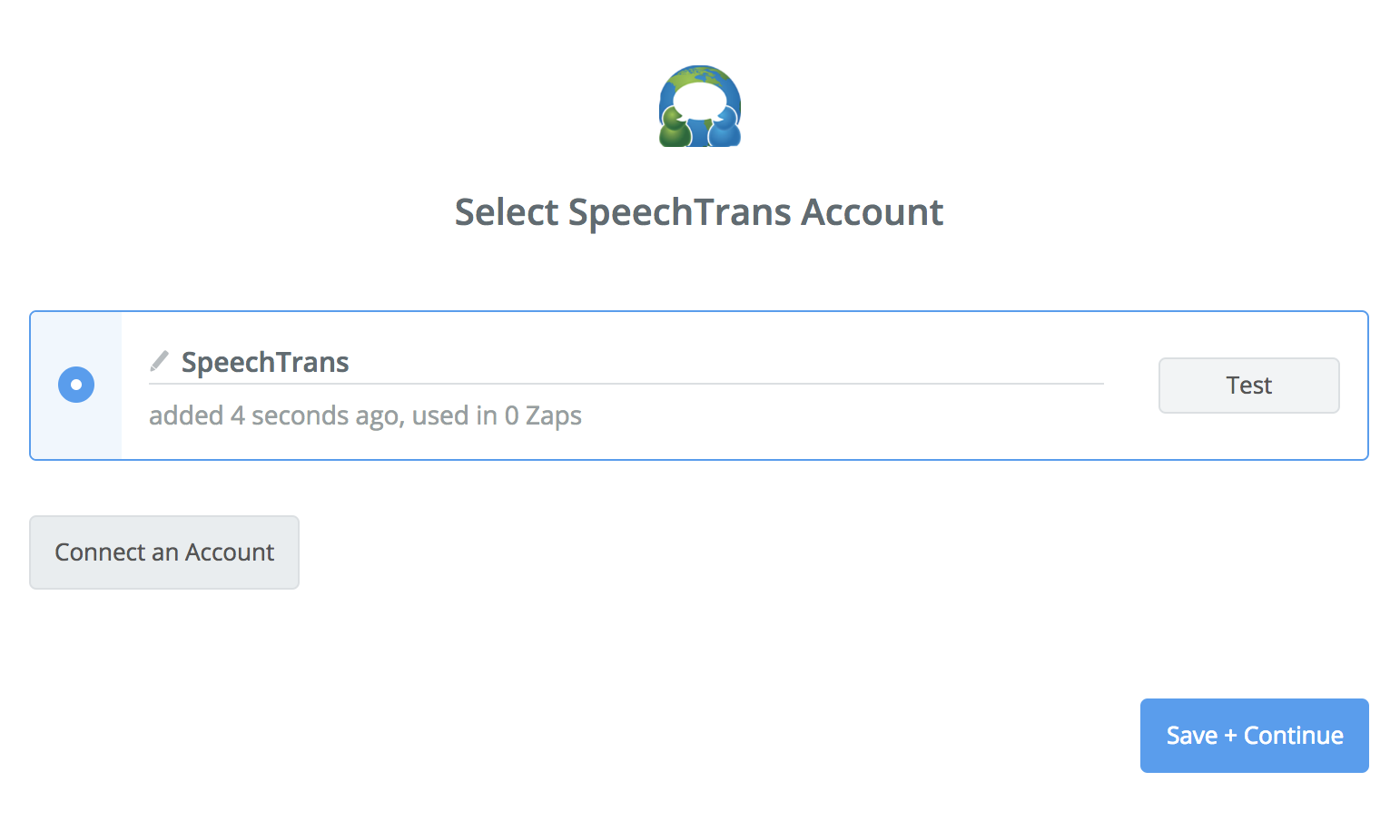SpeechTrans connection successfull