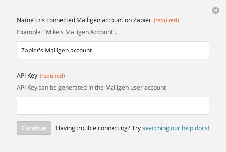 Finding your Mailigen API Key