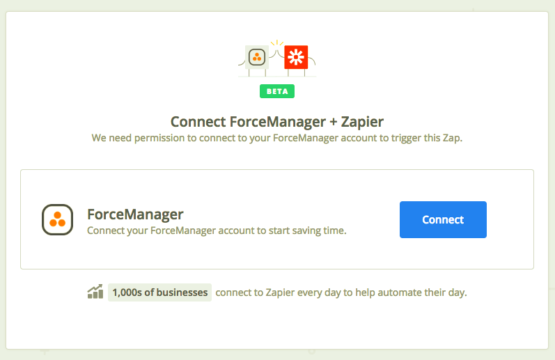 Click to connect ForceManager