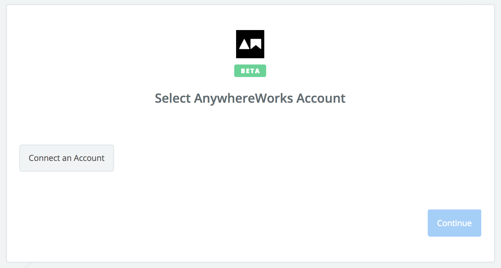 Click to connect AnywhereWorks