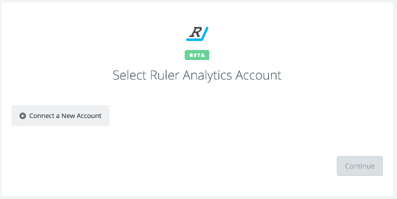Click to connect Ruler Analytics