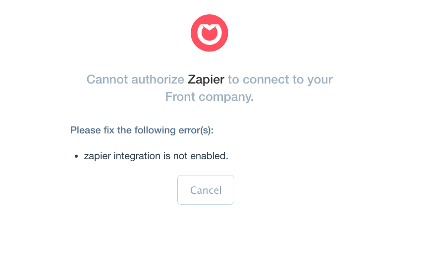 Common Problems with Front on Zapier - Integration Help & Support