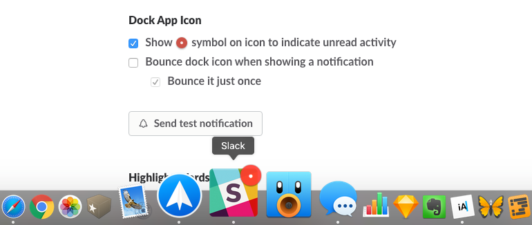 Slack red dot notification icon