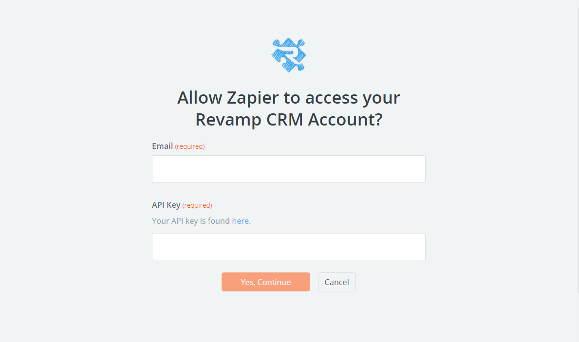 Revamp CRM username and password