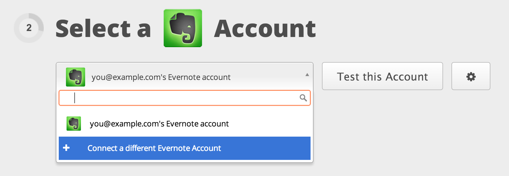 Connect your Evernote account to Zapier