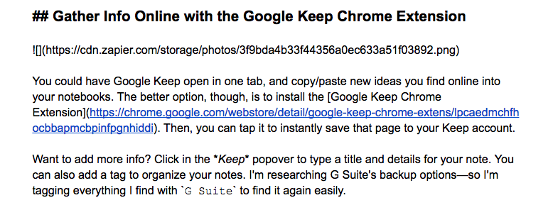 Markdown in Google Docs