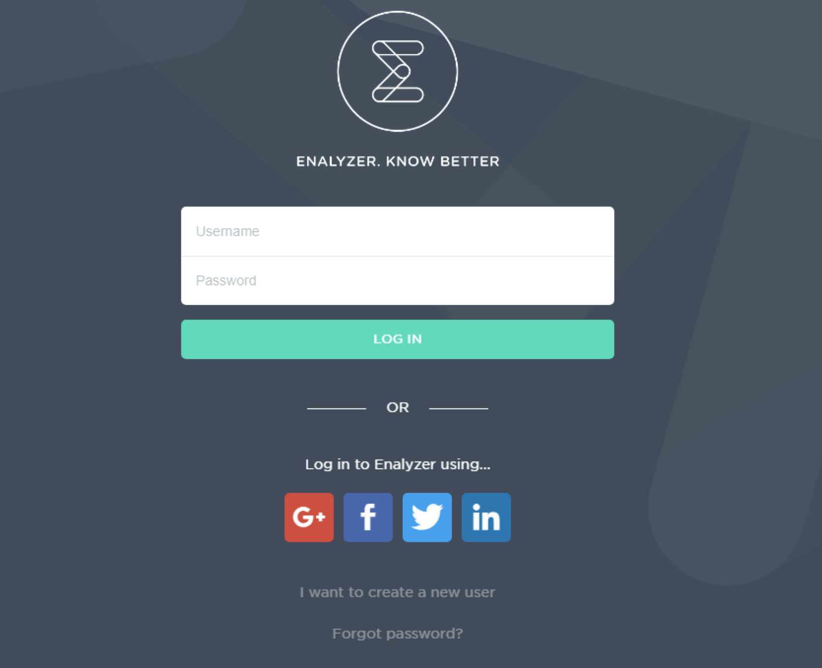 Login to Enalyzer