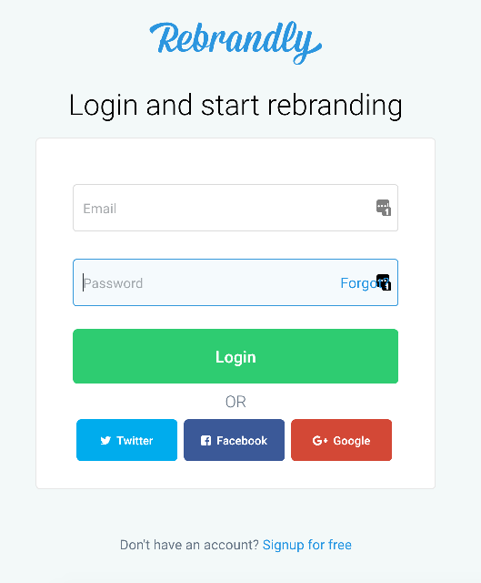 Login to Rebrandly