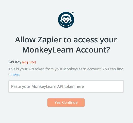 MonkeyLearn API Key