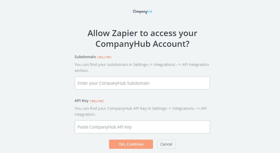 CompanyHub API Key