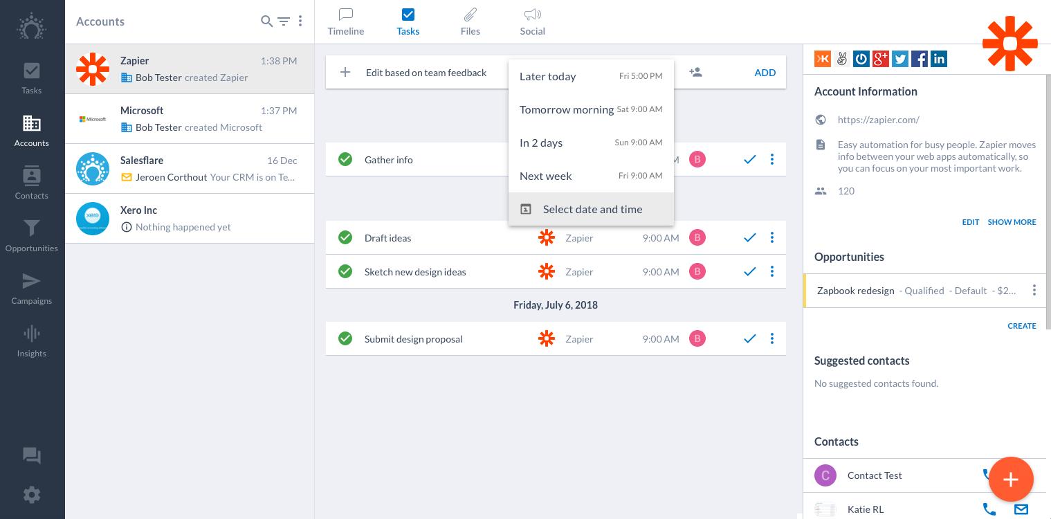 Salesflare screenshot
