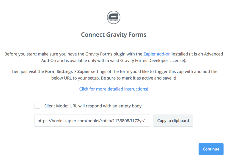 Gravity Forms to Zapier