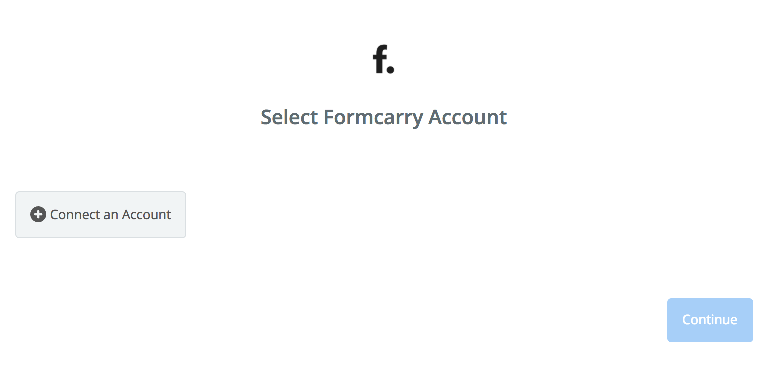 Click to connect Formcarry