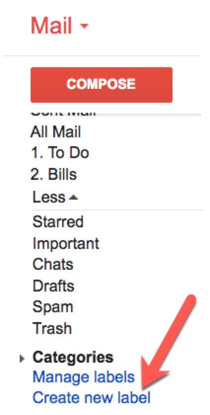 Create a new label in Gmail