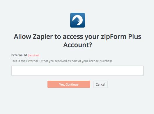 ZipForm Plus External ID