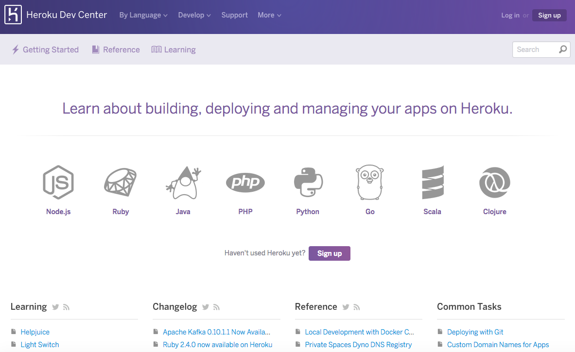 Heroku dev center