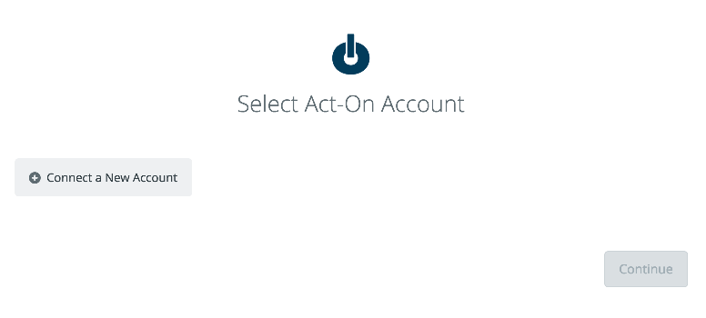 Select Act-On Account